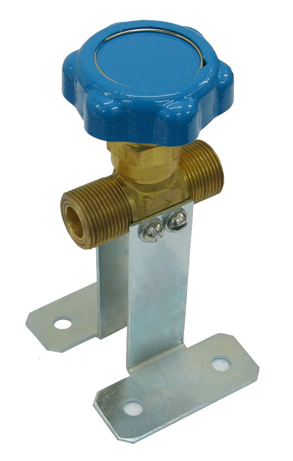Клапан запорный К-1409-250, синий маховик