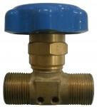 Клапан запорный К1409-250 синий маховик