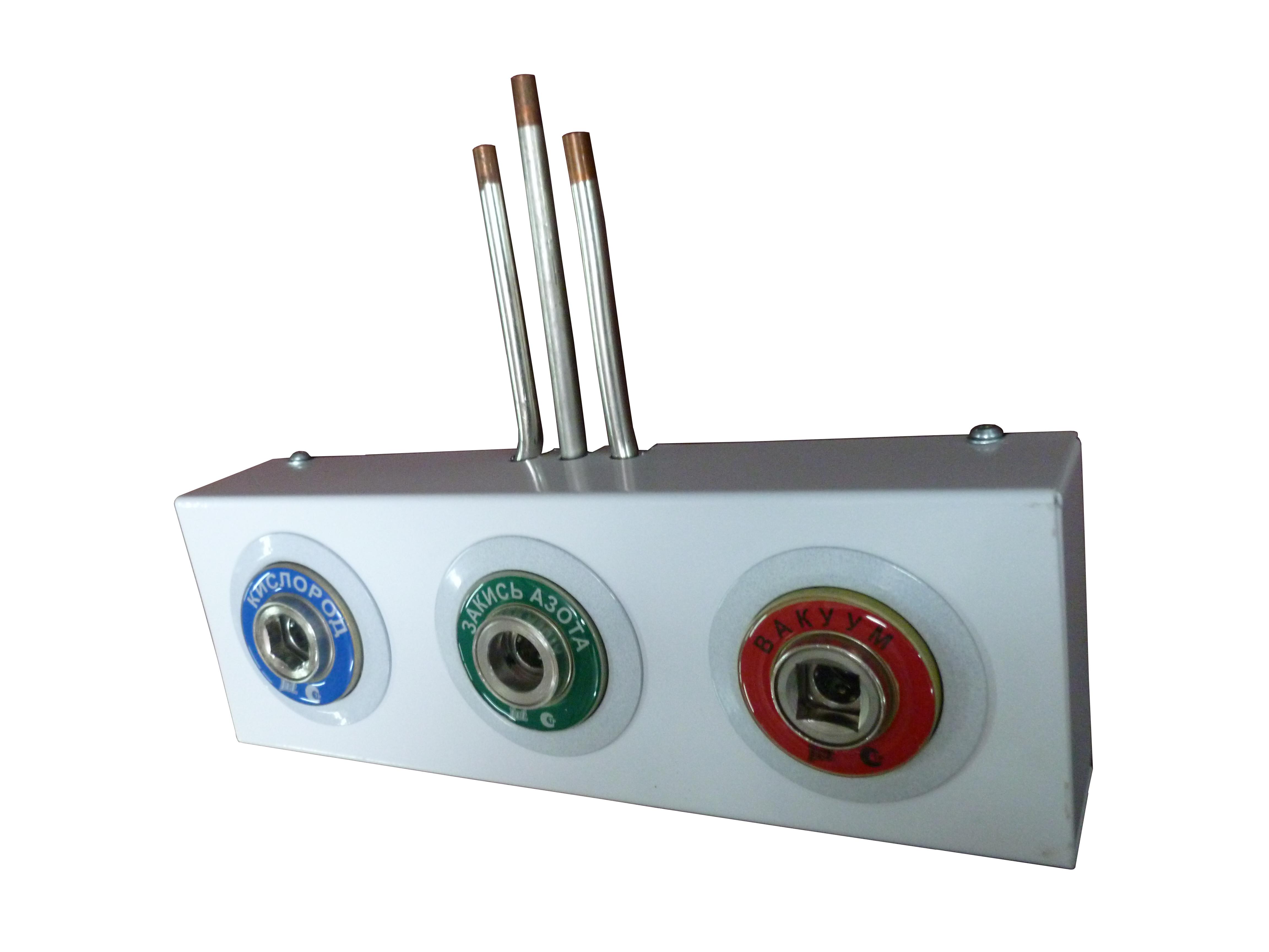 Система клапанная быстроразъемная СКБ-1 на 3 газа_