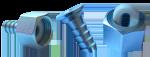 Штуцер 1 2 Вн-Ду9 (с подвижной гайкой, кольцом)