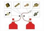 2. Варианты схем соединения баллонов в рампы