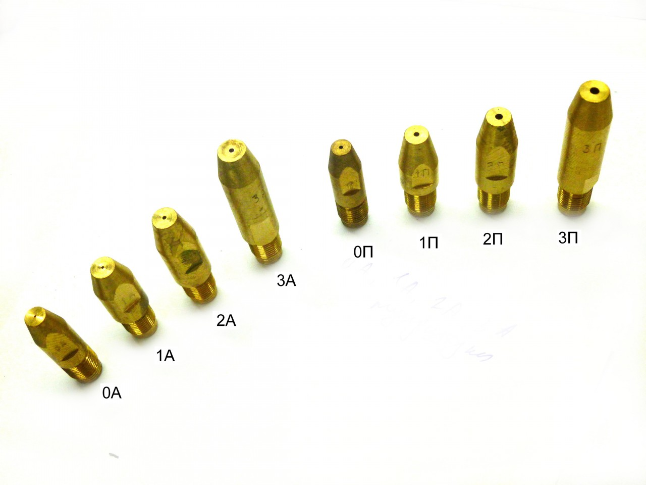 Мундштуки горелки (0А, 0П, 1А, 1П, 2А, 2П, 3А, 3П)-
