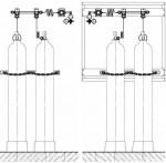 Рампы газовые пристенные